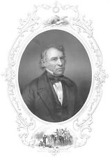 MEXICAN MEXICO AMERICAN WAR President ZACHARY TAYLOR ~ 1856 Art Print Engraving