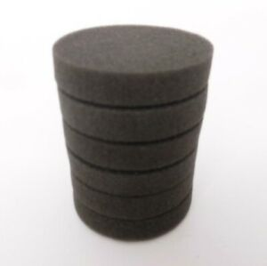 6 Pack of Black Buffing Polishing Pads for Disc Repair Machines