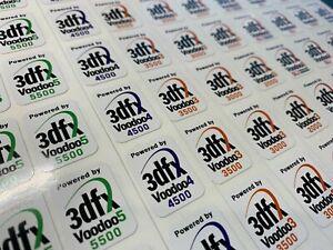 3Dfx Voodoo 2000 3000 3500 4500 5500 Banshee Vintage Computer Case Badge Sticker
