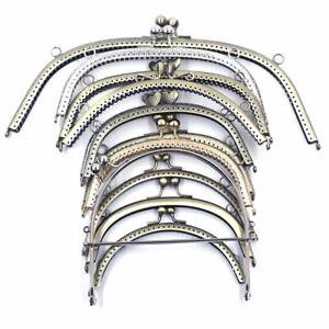 15-30cm Semicircle Purse Frame Kiss Clasp Clutch Buckle Handle Handbag Hardware