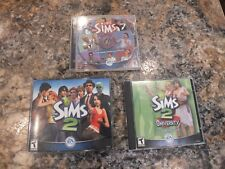 The Sims 2 PC Game 4-CD Set  The Sims & Sims 2 University Expansion LOT