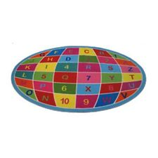Fun Rugs Fun Time-NEW Kids Home Decorative Area Rug Nylon Alpha Numeric Globe -5