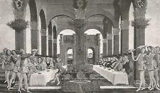 D0248 Sandro Botticelli - Nozze di Nastagio degli Onesti - Stampa - 1930 print
