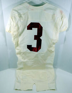 2009-15 Alabama Crimson Tide #3 Game Used White Jersey BAMA00144