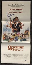 Roger Moore Signed 13x28 Movie Poster Autographed PSA/DNA James Bond Octopussy