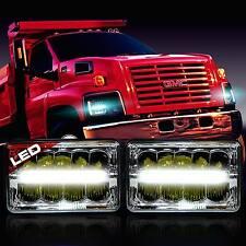 LED Headlight Single Headlamp Upgrade for GMC TopKick C4500 C5500 Truck (2 Pack)