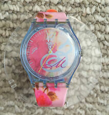 NEW! Woman's SWATCH WATCH Swiss Rose in Plastic Globe Collectors RARE! Floral