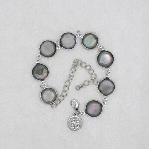 WHBM signed jewleryresin beads faux shell bangle lobster bracelet for women