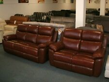 Kanas leather reclining 3 seater sofa and 2 seater sofa