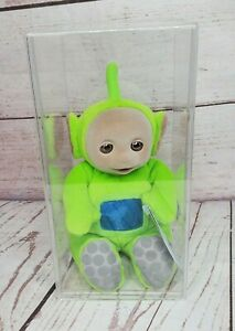 """Dipsy Eden 1998 9"""" Vintage Green Teletubbies Collectors Case Included"""