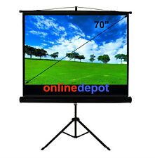 "70""/1.78m TRIPOD COMPACT MOVIE TV PROJECTOR SCREEN 16:9"