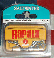 rapala vmc 2/0 o'shaugh rigging fishing hooks qty 50 saltwater fishing France
