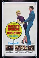 BUS STOP * CineMasterpieces ORIGINAL VINTAGE MARILYN MONROE MOVIE POSTER 1956