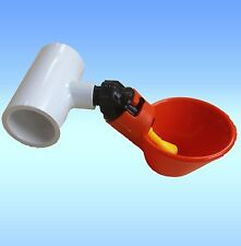 10 Chicken Water Drinking Cups Pressure Fill Automatic Poultry Drinker + PVC