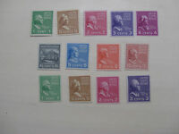 United States Scott  839 - 851, the 1938 Presidential Set of Coils Mint NH