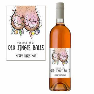 Funny Christmas Wine Bottle Label For Him Men Rude Secret Santa Xmas Gift Idea