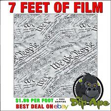 Hydrographic Film We The People 2nd Amendment Script Transparent 7 X 20