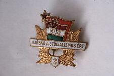 Hungary Hungarian Badge Pin KISZ member 1957 Level 3 Communist Union Youth
