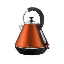 1.8l Cordless Kettle 2200w Fast Boil Electric Washable Filter 360 Swivel Orange