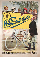 Early 1900s Whitworth Cycles french advertising poster 13 x 19 Giclee iris print