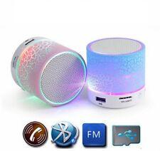 Round LED Portable Wireless Bluetooth Mini Speaker Support USB MicroSD Free Ship