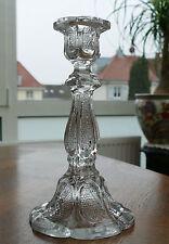 1 großer Pressglas - Kerzenleuchter Art Deco um 1930 - Klares Pressglas !!!