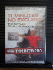 Body By Jake: Tower 200 11 Minutes No Excuses DVD Exercise Burn Fat