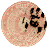 (I.B) QV Postal : Newspaper Wrapper - WH Smith & Son 1d (Advertising Ring)