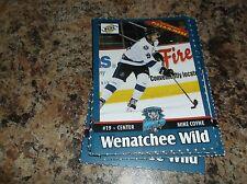 2015-16 MIKE COYNE WENATCHEE WILD BCHL BCJHL SINGLE PLAYER CARD