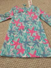 NWT Vineyard Vines Girls Starfish Conch Tunic Dress Size 4T