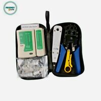 CABLE TESTER RJ45 Network Ethernet Kit Crimping Tool CAT6 Wire Line Detector Set