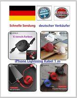 2X USB-Lightning Ladekabel mini aufrollbar für iPhone 5/6/7/8 / X /Plus iPad