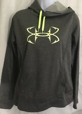 Under Armour Storm Hoodie Women's Size Small Loose Go Fish Gray Yellow