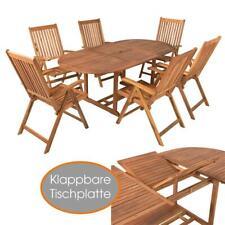 Sitzgruppe Gartenmöbel Akazie Holz Essgruppe Sitzgarnitur 7-tlg Gartengarnitur