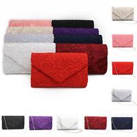 Ladies Grace Lace Envelope Clutch Bag Evening Bag Bridal Wedding Bag Handbag