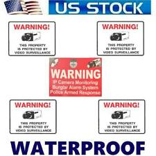Video Surveillance Camera Security System Window Stickers signs For Home Windows