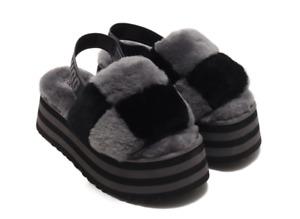 UGG Disco Checker Slide Black/Dark Grey Slipper Women's sizes 5-11/NEW!!!