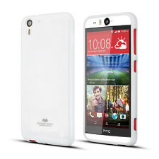 Korean Mercury Pearl TPU Gel Jelly Case Cover for HTC Desire Eye White+SP+iRing