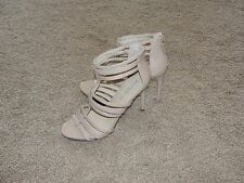 Looks New Womens Aldo Shoes Sz 10 Nude Beige Strappy Heels Shoes