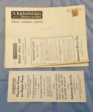 Vintage KALAMAZOO Repair Price List Catalog Book for Stoves Ranges Furnaces