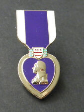 PURPLE HEART COMBAT VETERAN MINI MEDAL LAPEL OR HAT PIN BADGE 1.5 INCHES