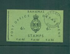 Bahamas 1961 6sh Booklet with first day cover cancel, Stamps uncanceled MNH SB3