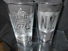 2018 NHL SPECIAL EDITION WINTER CLASSIC NEW YORK RANGERS (2) ETCHED PINT GLASSES