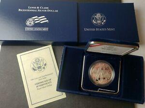 2004 P Proof $1 Lewis & Clark Bicentennial Commemorative Silver Dollar
