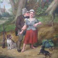 Otto Henri 1832-1902 Wien JAGD Liebelei! Jäger Hunde Klosterneuburg GENREMALEREI