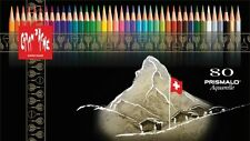 CARAN D'ACHE PRISMALO COLOUR PENCILS - Box of 80 assorted watercolour pencils