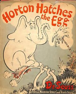 Horton Hatches The Egg 1st Ed 3rd Printing  Early Dust Jacket $1.50 Dr Seuss G1