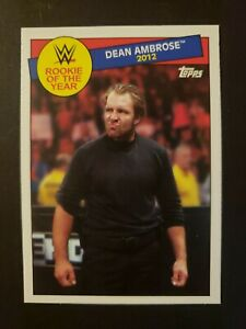 DEAN AMBROSE 2015 Topps Heritage WWE Rookie of the Year Insert #27 of 30