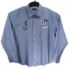 Men's La Martina Buenos Aires 5XL Blue Long Sleeve Button Down Shirt Boston Polo