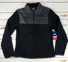 NWT Juniors Pony Light Weight Black Fleece Full Zip Jacket Size Large